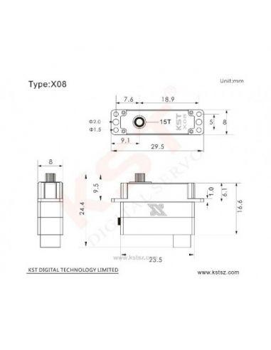 KST X08 Plus Zeichnung