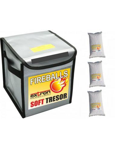 FIREBALLS Tresor  inkl. 3x1Liter FIREBALLS