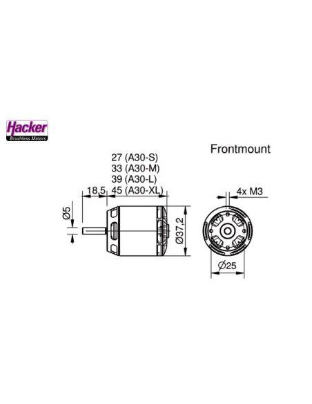 Hacker A30-12L V1 Abmessungen