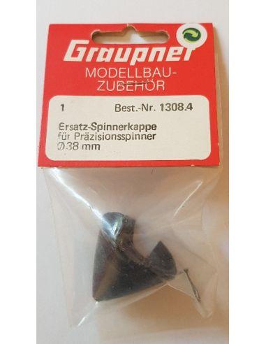 Graupner Ersatz Spinnerkappe Präzisionsspinner 38mm schwarz