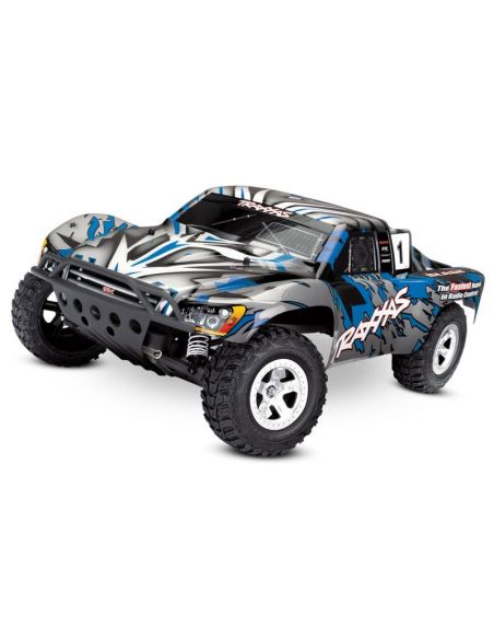 TRAXXAS SLASH Blau-X RTR OHNE AKKU/LADER 1/10 2WD Short Course Racing Truck Brushed 58024
