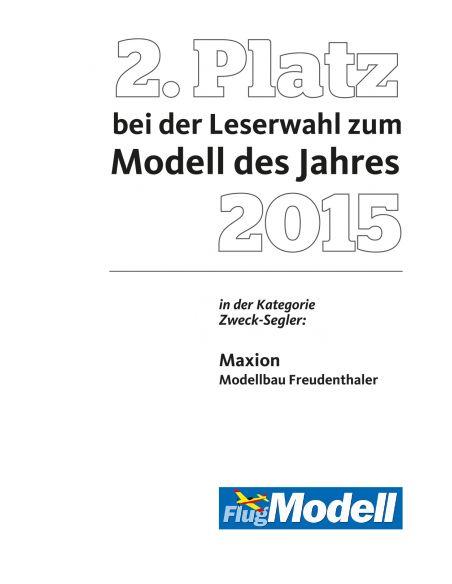 2. Platz Modell des Jahres 2015