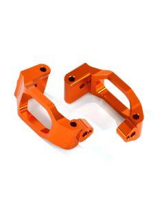Caster-Blocks Alu orange (C-Hubs) L/R TRX 8932A Maxx®