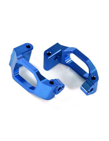 Caster-Blocks Alu blau (C-Hubs) L/R TRX 8932X Maxx®
