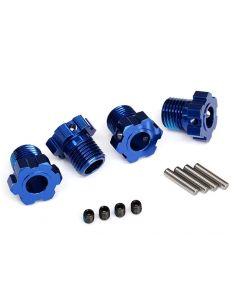 Radmitnehmer splined 17mm blau eloxiert TRX 8654