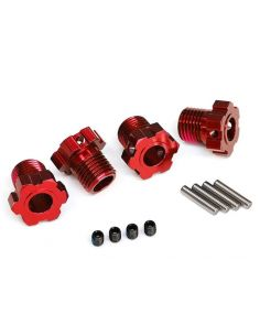Radmitnehmer splined 17mm rot eloxiert TRX 8654R