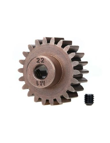 Gear, 22-T pinion (1.0 metric pitch) (fits 5mm shaft)/ set s TRAXXAS (compatible with steel spur gears), 6495X