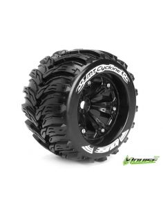 MT 3.8 CYCLONE 1/8 Sport Felge schwarz 17mm TRAXXAS, HPI / 0 Offset / LOUISE