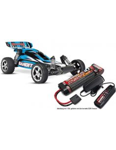 TRAXXAS Bandit blau Buggy RTR mit Akku/Lader-SET *AKTION* 1/10 2WD Buggy Brushed (TRX24054-4 + TRX2983G)
