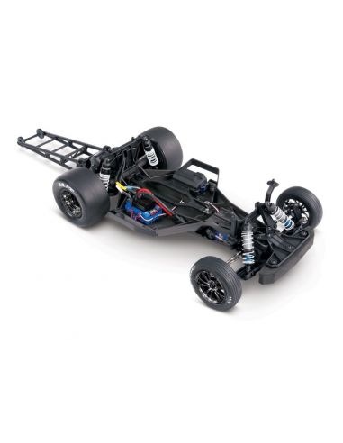 TRAXXAS Drag Slash blau RTR o. Akku/Lader 3Kanal-Sender 1/10 2WD Drag-Racer Brushless, TRX94076-4BLUE