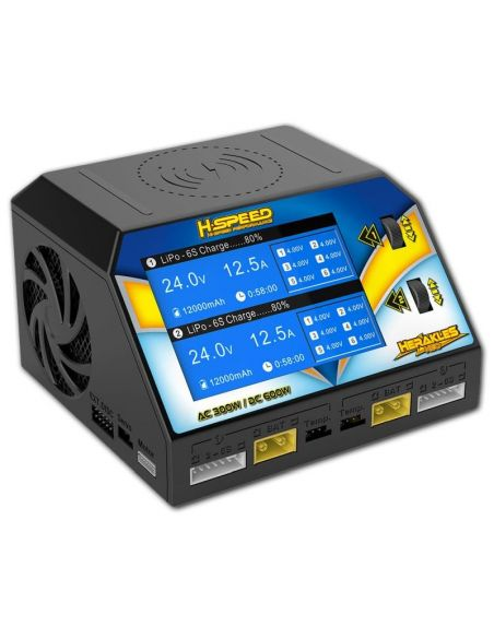 HSPEED Herakles NEO AC/DC Dual-Ladegerät 300W LiPo/LiHV/LiFe/LiIon (1-6S), NiMh/NiCd (1-16S)